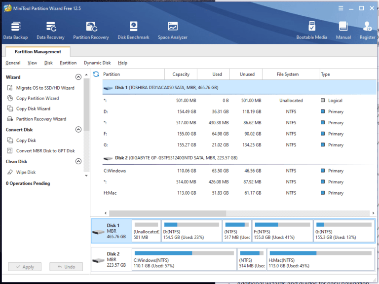 MiniTool Partition Wizard Download for Windows - Fileion.Com