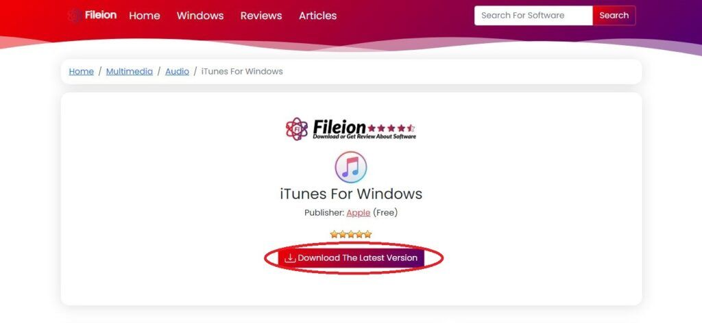 Click on the download button named Download The Latest Version