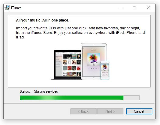 Installing iTunes For Windows