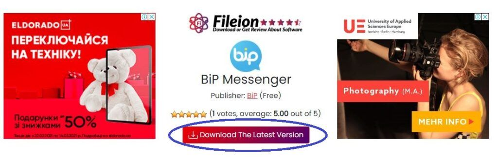 BiP Messenger Download - Fileion.Com