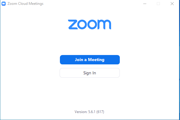 Zoom Meetings Screenshot
