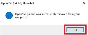 Click Okay to complete the uninstallation