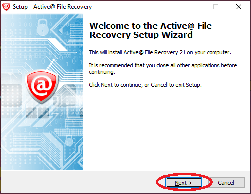 Active@ File Recovery Installation - Fileion.Com