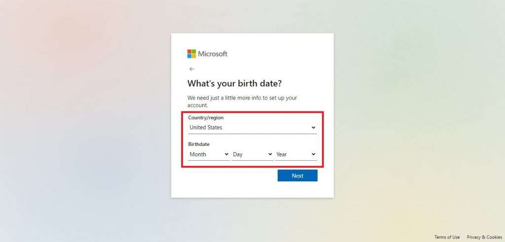 Provide your Location and Birthdate