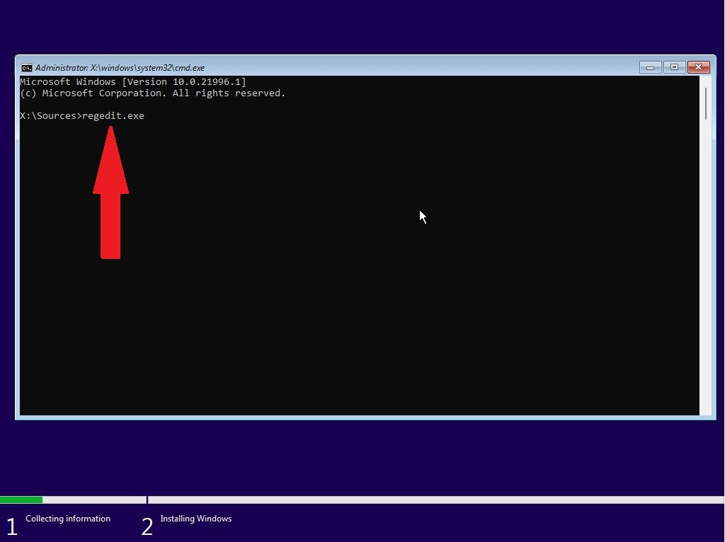 Open Command Prompt during the Windows Installation